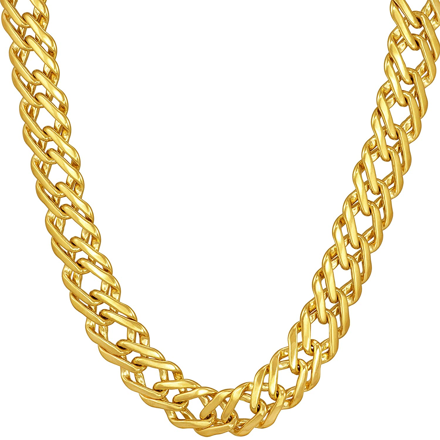 Lifetime Replacement Guarantee 16-30 Lifetime Jewelry Statement Necklace for Women /& Teen Girls Thick and Durable 7.7mm Venetian Gold Chain 20X More Real 24k Plating Than Other Necklaces