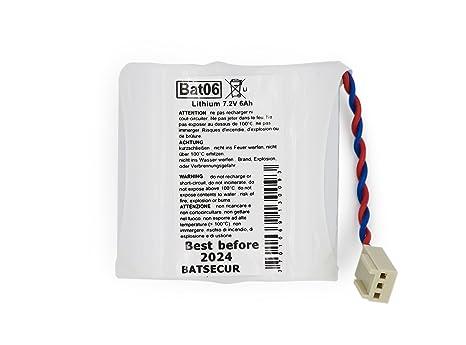 Pila de batería para alarma BATLI06, 7,2 V - 5,0 Ah