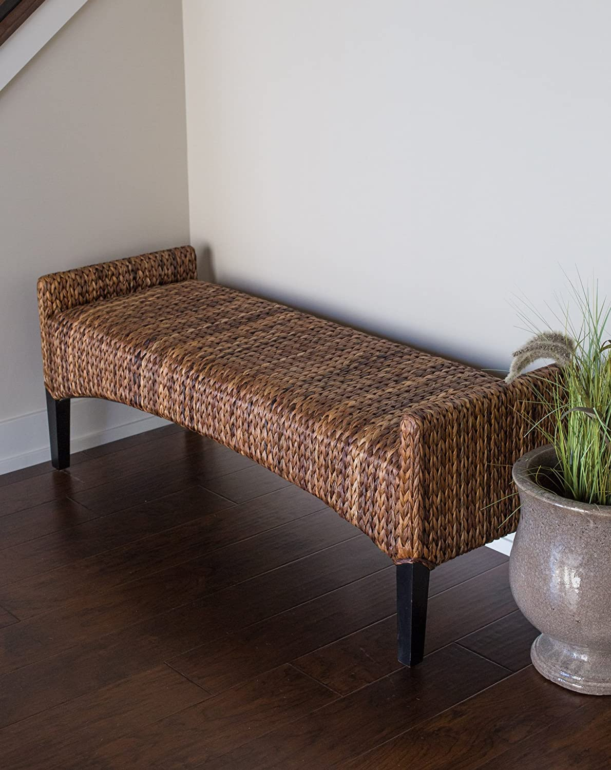 Home Furniture Woven Seagrass Bench