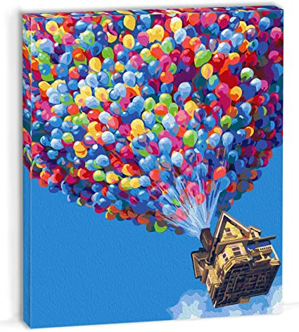 Amazon.com: OyeArts Framed Paint by Numbers Kits for Adults, DIY Canvas  Acrylic Painting Full Color Set with Frame for Beginners to Advanced -  16x20'' - Balloons