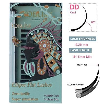 Eyelash Extensions DD Curl Individual Eyelashes 8-15mm Mixed Tray .20 on