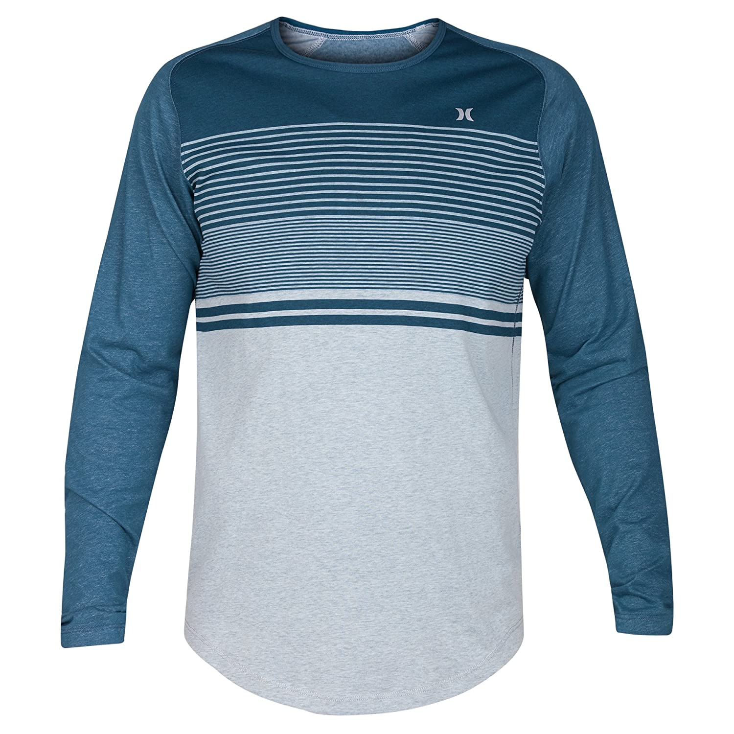 Hurley Men's Dri-Fit Lagos Coves Crew Long Sleeve Shirt MKT0006230