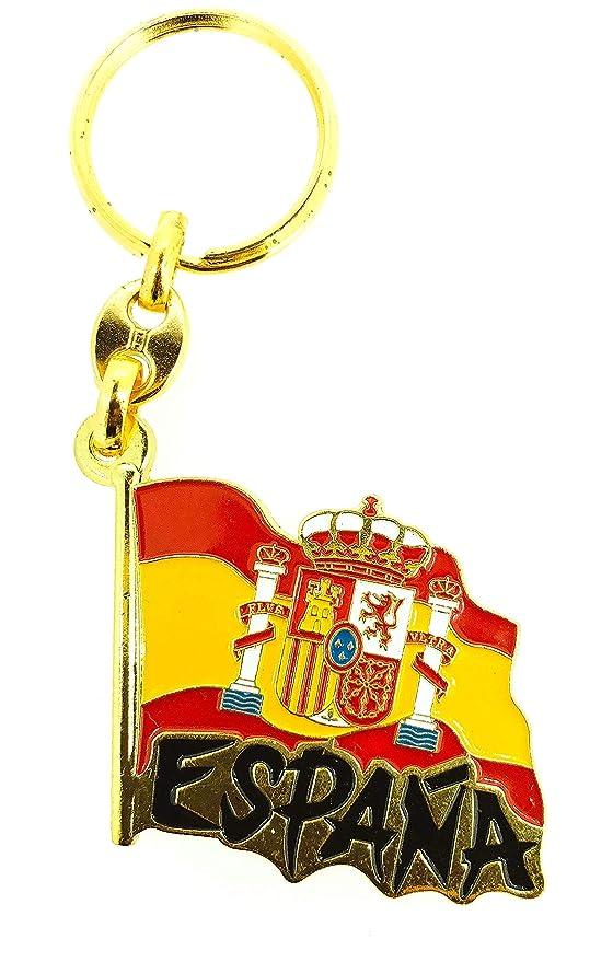 Llavero Bandera España Ondeada Letras: Amazon.es: Hogar