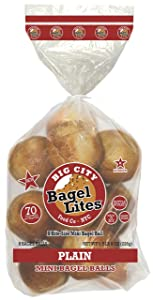 24 Bagel Lites Fresh, NYC mini bagel balls- PLAIN (3 PACK)