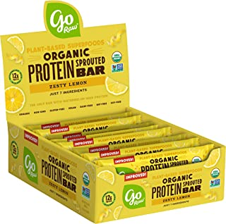 product image for Go Raw Protein Bars, Zesty Lemon | Gluten Free Energy Bar | Organic | Vegan | Natural (12 Bars)