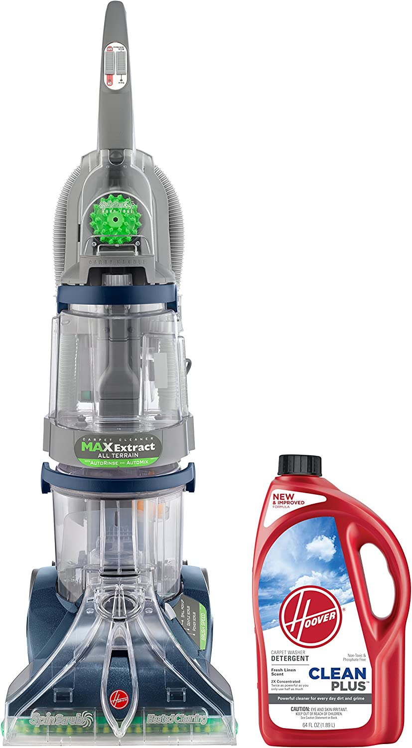 Hoover Carpet Cleaner Max Extract Dual V All Terrain Hardwood Floor and Carpet Cleaner Machine