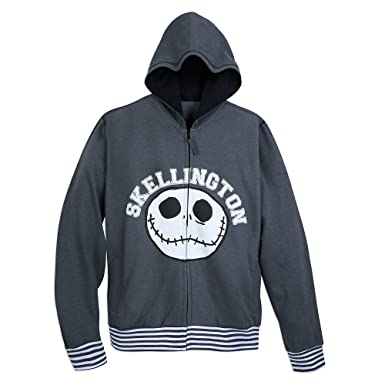 Disney Jack Skellington Hoodie for Men - The Nightmare Before Christmas  Size Mens S Gray 101b7fe86