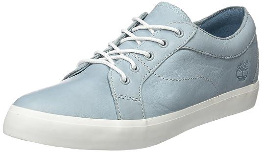 Timberland Flannery Oxfordstone Blue Escape Full Grain, Sneakers Basses Femme, Bleu (Stone Blue Escape Full Grain), 39 EU