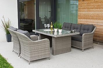 Amazonde Haberkorn Garten Edle Design Rattan Sitzgruppe In And Out