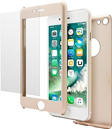 Unotec Carcasa 2 Piezas Pack Full Protect iPhone 7 Dorado: Amazon ...