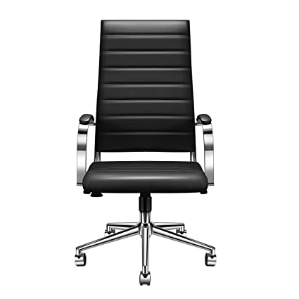 Luxmod Silla de oficina de respaldo alto con brazos, silla ...