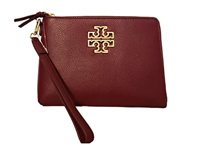 583ebe7150c Image Unavailable. Image not available for. Color  Tory Burch Britten Large  Pebbled Leather Zip Pouch ...