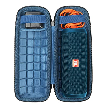 b9d8ea1c4d3f Hard Travel Case for JBL Flip 4 Waterproof Portable Bluetooth Speaker by  CO2CREA (Size 3 -Outer Black and Inner Ocean Blue)