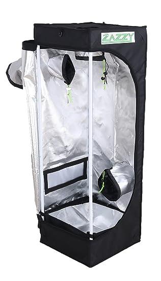 Zazzy 16u0026quot;x16u0026quot;x48u0026quot; 600D Mylar Hydroponic Indoor Grow Tent ...  sc 1 st  Amazon.com & Amazon.com : Zazzy 16