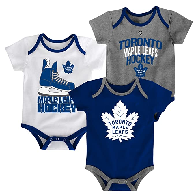 708e7b462 Amazon.com  Toronto Maple Leafs NHL Hat Trick Infant Creeper