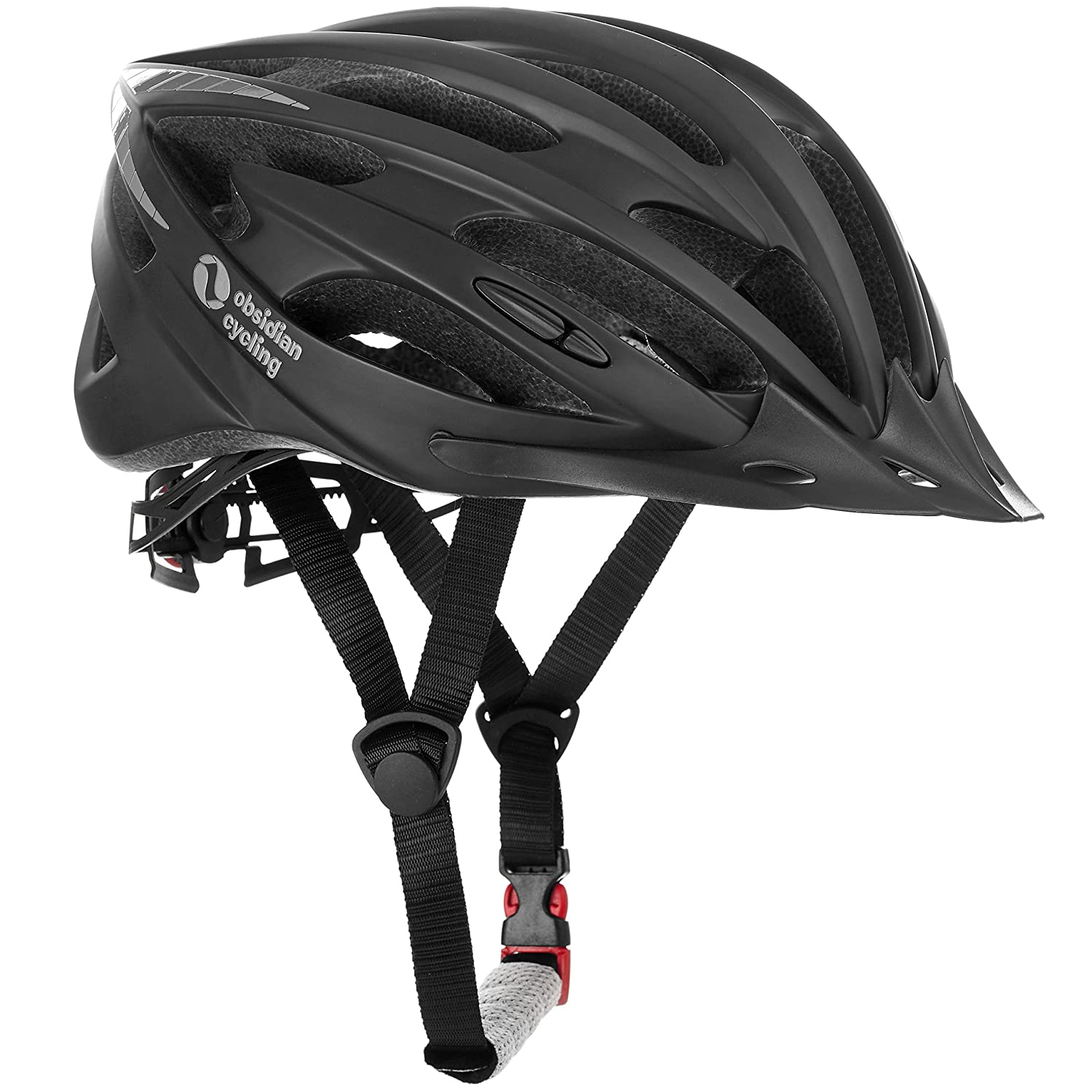 TeamObsidian Airflow Bike Helmet with in-Molded Reinforcing Skeleton for Added Protection - Adult Size, CPSC Safety Certified - Comfortable, Lightweight, Breathable Urban Street or Mountain Biking - Best Cycling Gift Idea
