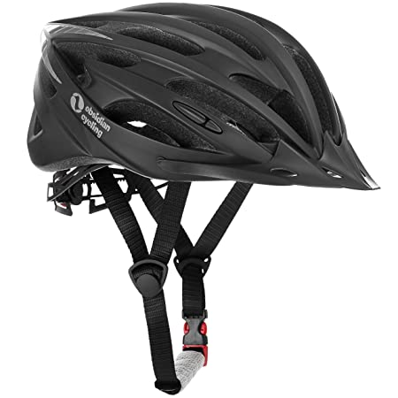 TeamObsidian Premium Quality Airflow Bike Helmet with in-Molded Reinforcing Skeleton for Added Protection - Adult Size, CPSC Safety Certified - Comfortable, Lightweight, Breathable
