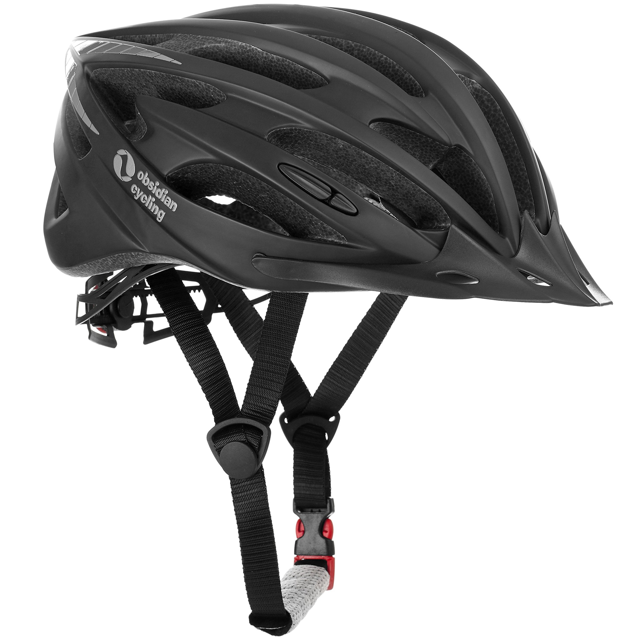66c19d23fa4 TeamObsidian Premium Quality Airflow Bike Helmet with in-Molded Reinforcing  Skeleton for Added Protection - Adult Size