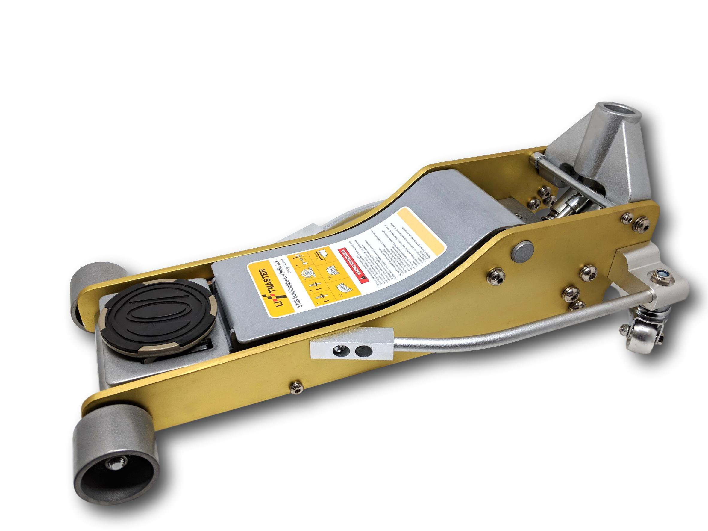Liftmaster 3 Ton Aluminum and Steel Low Profile High Lift Floor Jack (Gold)... by LiftMaster