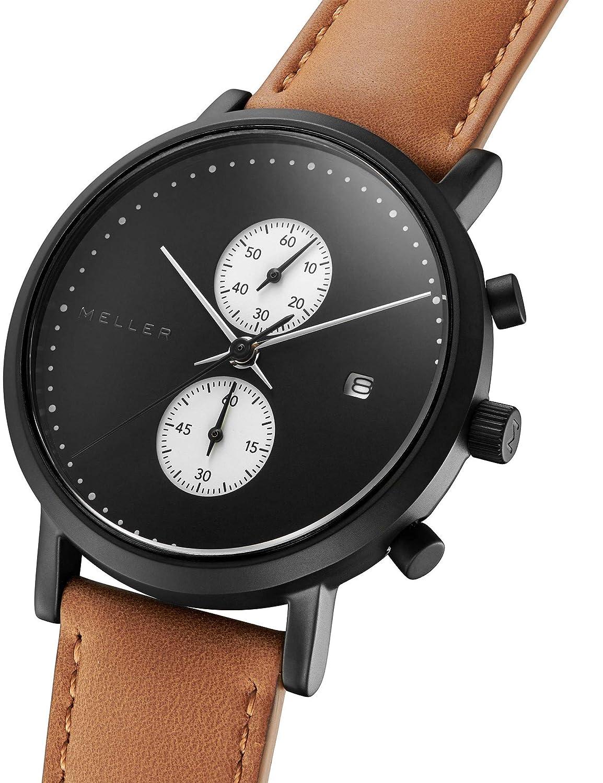 Meller Reloj Analógico para Unisex Adultos de Cuarzo con Correa en Cuero 4NW-1CAMEL: Amazon.es: Relojes