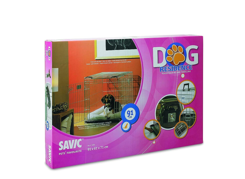 Large Savic Dog Residence 91 Cm Dog Crate Zinc Plated 91 X 61 X 71 Cm