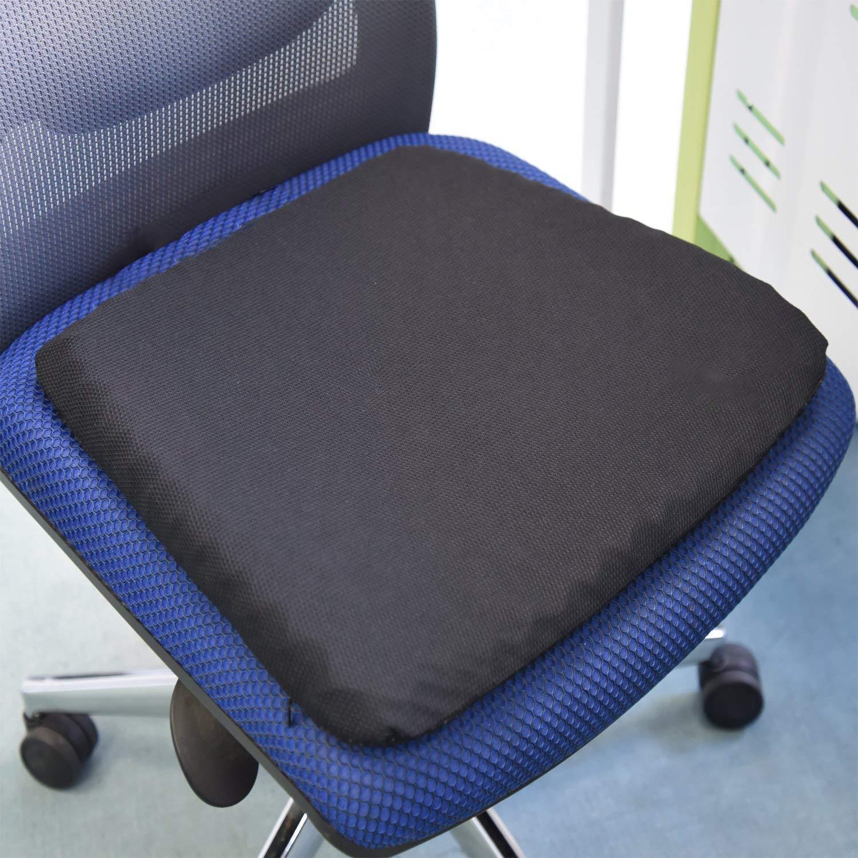 HJHY Cuscino Super Morbido in Gel Rinforzato sedie da Ufficio previene Il Sudore Sollievo dal Dolore alla Pressione Durevole e Portatile. Adatto per seggiolini Auto sedie a rotelle o a casa