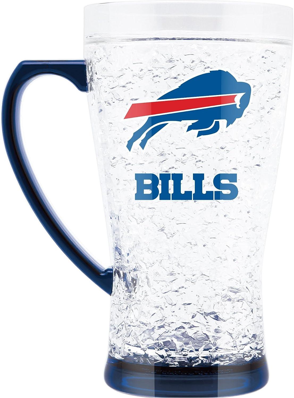 Duck House NFL Buffalo Bills 16oz Crystal Freezer Flared Mug, White