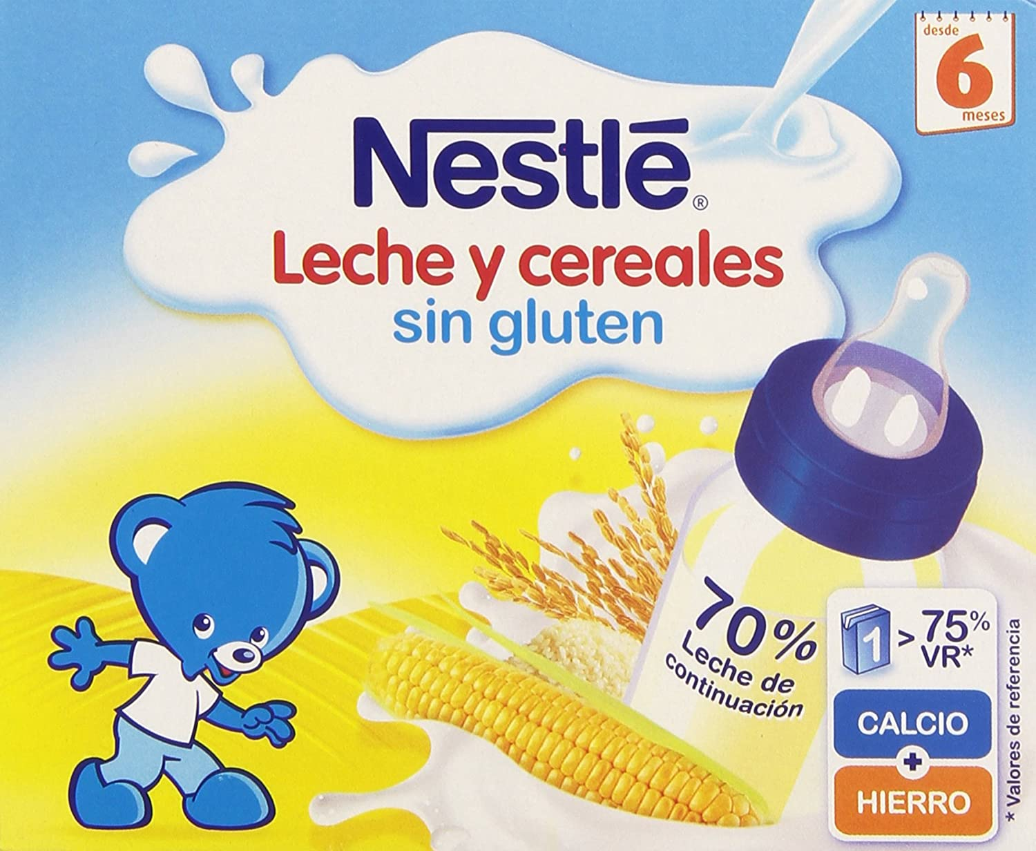 Nestlé - Leche y Cereales Sin Gluten - 6 Packs de (2x250 ml)