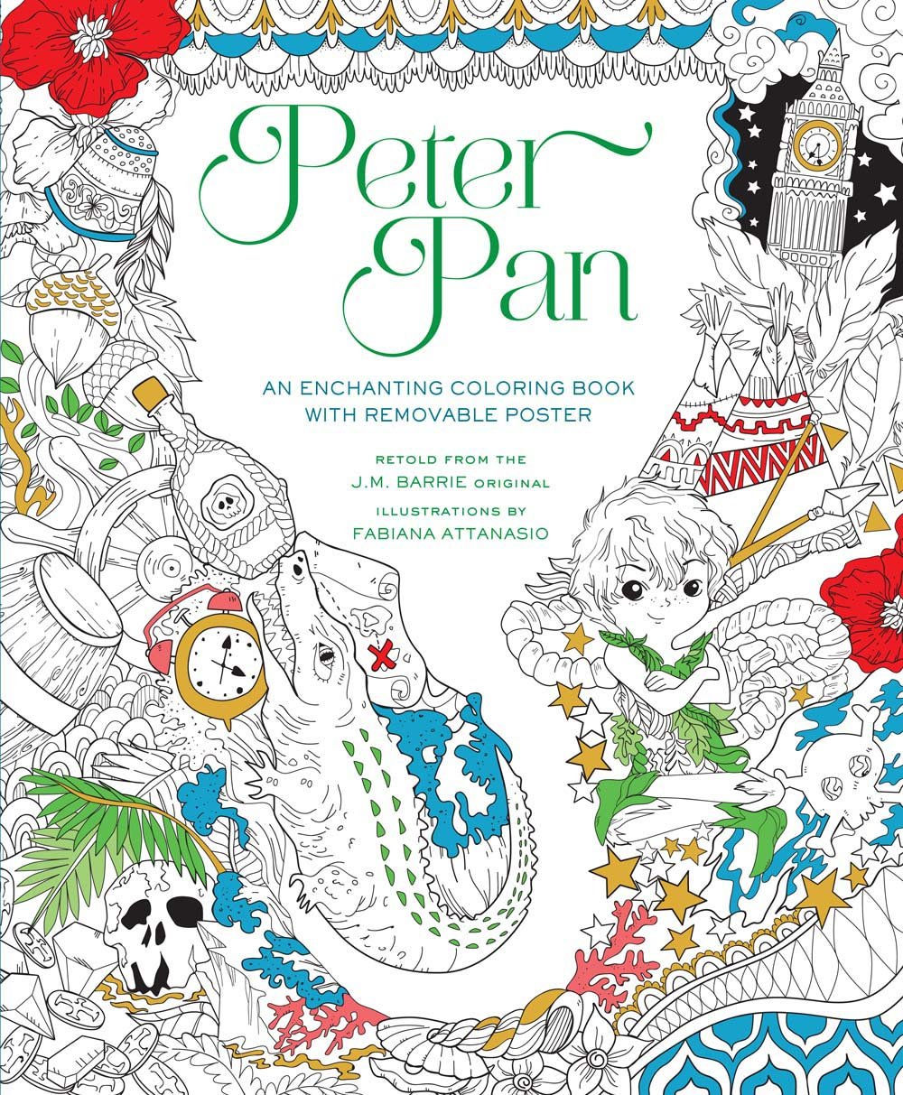 Peter Pan Coloring Book Fabiana Attanasio 9781454920908 Amazon Books