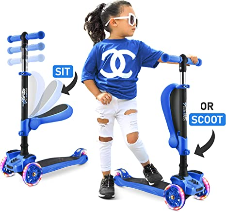 Hurtle 3 Wheeled Scooter For Kids Wheel LED L