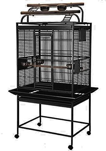King s Cages 8003223 Play Pen Bird Cage New Bird Proof Locks – 32 W x 23 D x 69 H Bird Cages Toy Conure African Grey Amazon eclectus Lorie