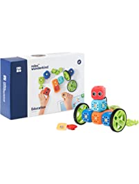 Robo Wunderkind Robotics Kit - Build and Code Your Own Robots - STEM Toy for Kids 5-10 - Compatible with Lego - 2 Free...