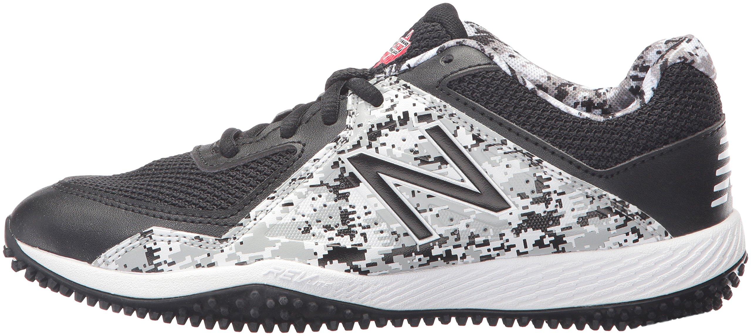 New Balance Boys' TY4040 Turf Baseball Shoe, Black/White, 6 M US Big Kid by New Balance (Image #5)