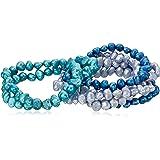 Freshwater Cultured Pearl 7 Piece Stretch Bracelet Jewelry Set