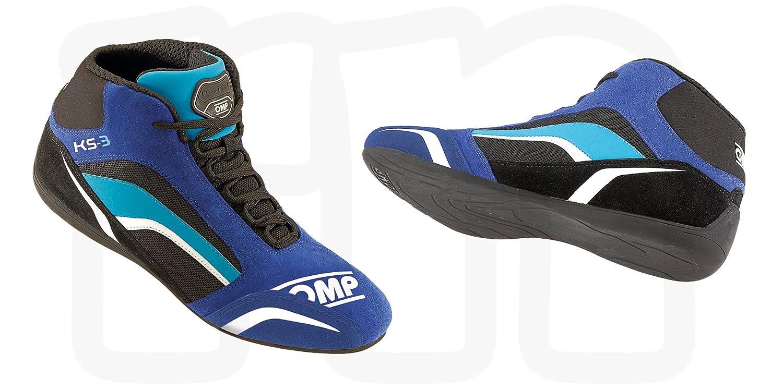 OMP OMPIC/81324143 KS-3 Zapatillas Azul/Negro / Cyan Talla 43, Bleu/Noir