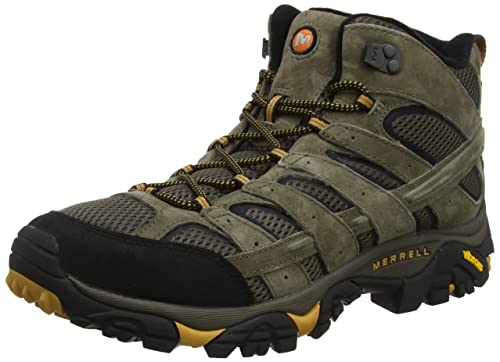 Merrell Men's Moab 2 Vent Mid Hiking Boot, Walnut, 10 M US best men's hiking shoes
