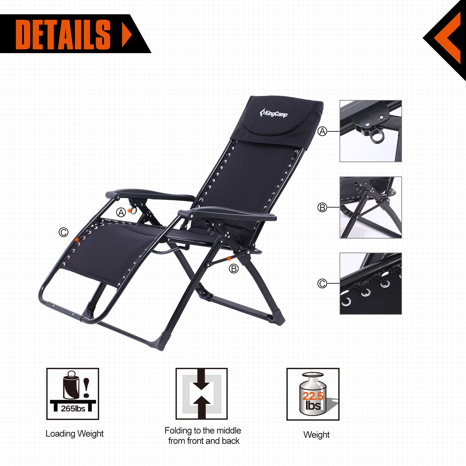 Oversized Reclining Camping Chairs & Beach Chairs | For ...