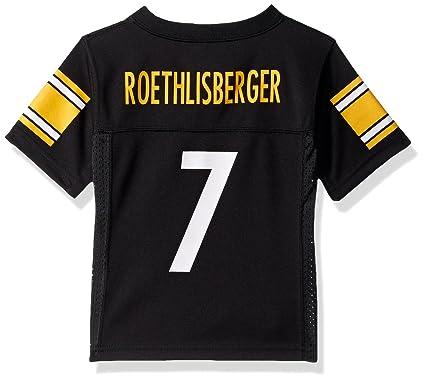 b4a09f866 Outerstuff Ben Roethlisberger Pittsburgh Steelers Toddler Black Jersey 2T