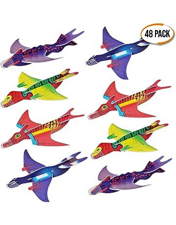 THE TWIDDLERS 48 Aviones planeadores de Dinosaurios - 4 Diseños Distintos - Perfectos para Detalles de