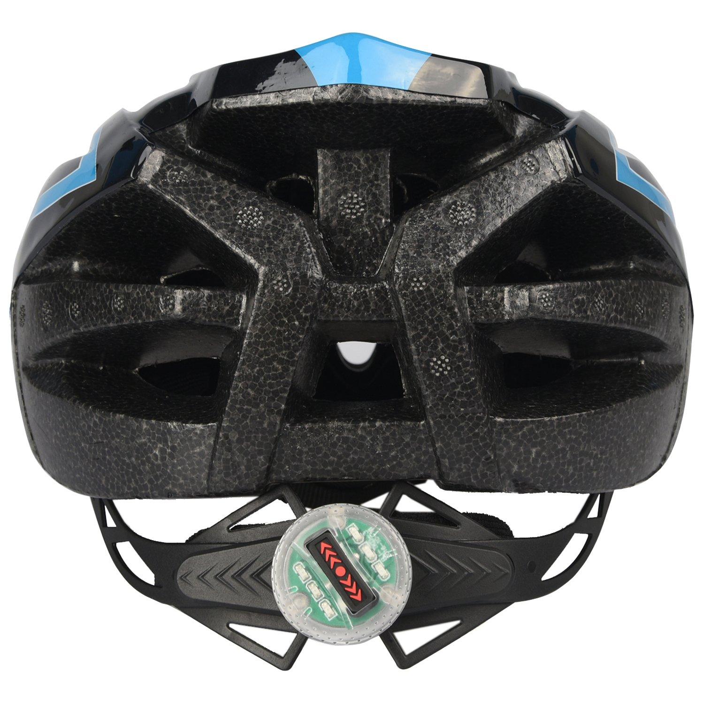 Yiyuan Casco de Ciclo Seguridad de Montar en Bicicleta con luz Trasera y Visera: Amazon.es: Deportes y aire libre