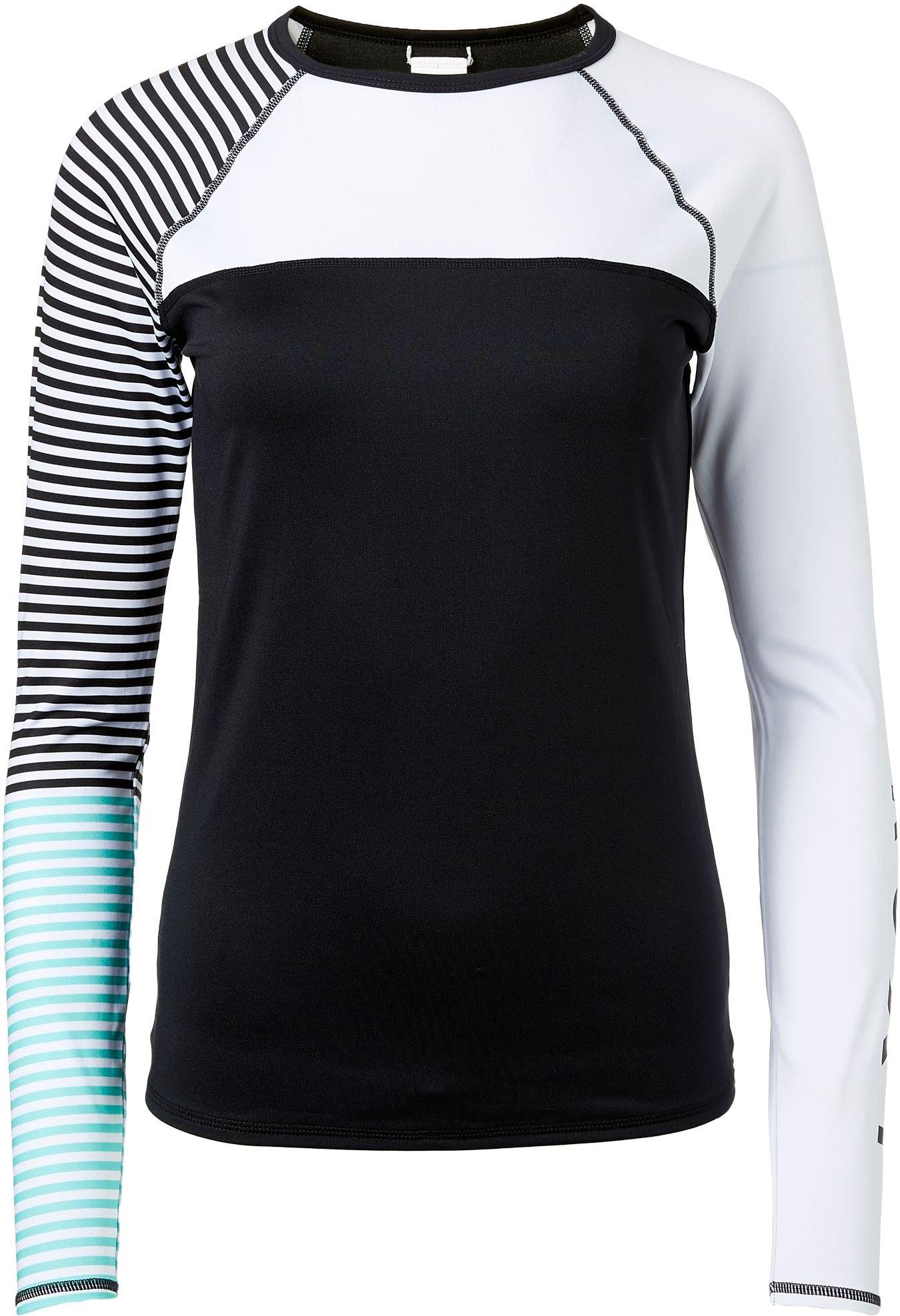 Roxy Women's Stripe Long Sleeve Rash Guard (Pool Blue, S)