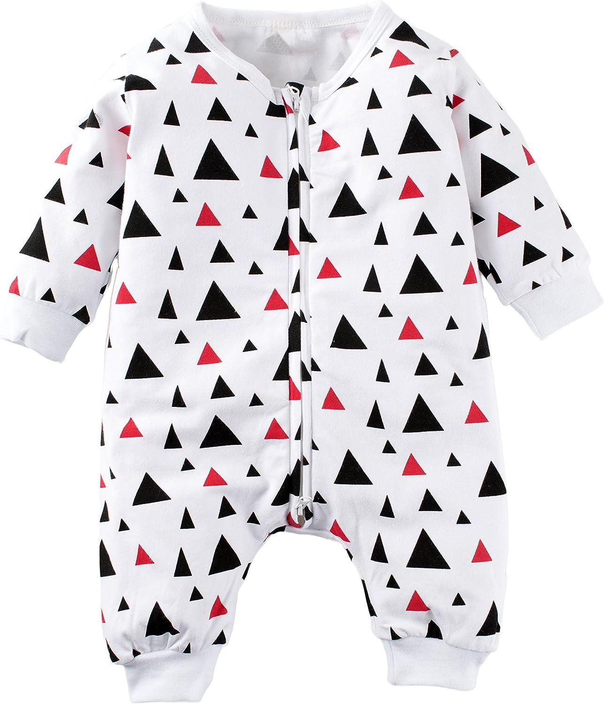 Big Elephant Baby Boys1 Piece Graphic Zipper Closure Long Sleeve Romper Jumpsuit