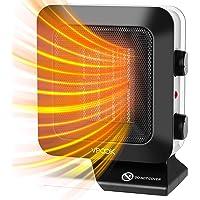 VPCOK Calefactor Ceramico Bajo Consumo Calefactor de Aire Caliente, 3 Modos, Termostato Regulable, Calefactor Baño Bajo…