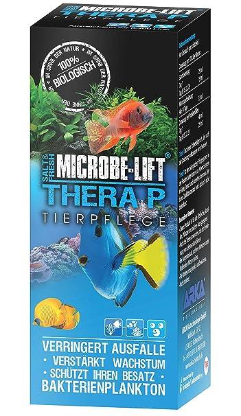MICROBE-LIFT TheraP – Cuidado para peces (para un cuidado óptimo de peces en acuarios de agua dulce y salada, para un bienestar óptimo, un crecimiento ...