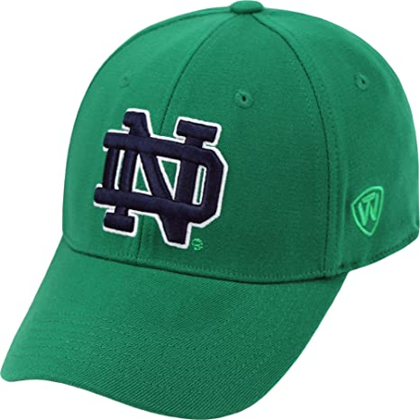 best service 28712 2a2fe Top of the World Men s Notre Dame Fighting Irish Green Premium Collection M-Fit  Hat