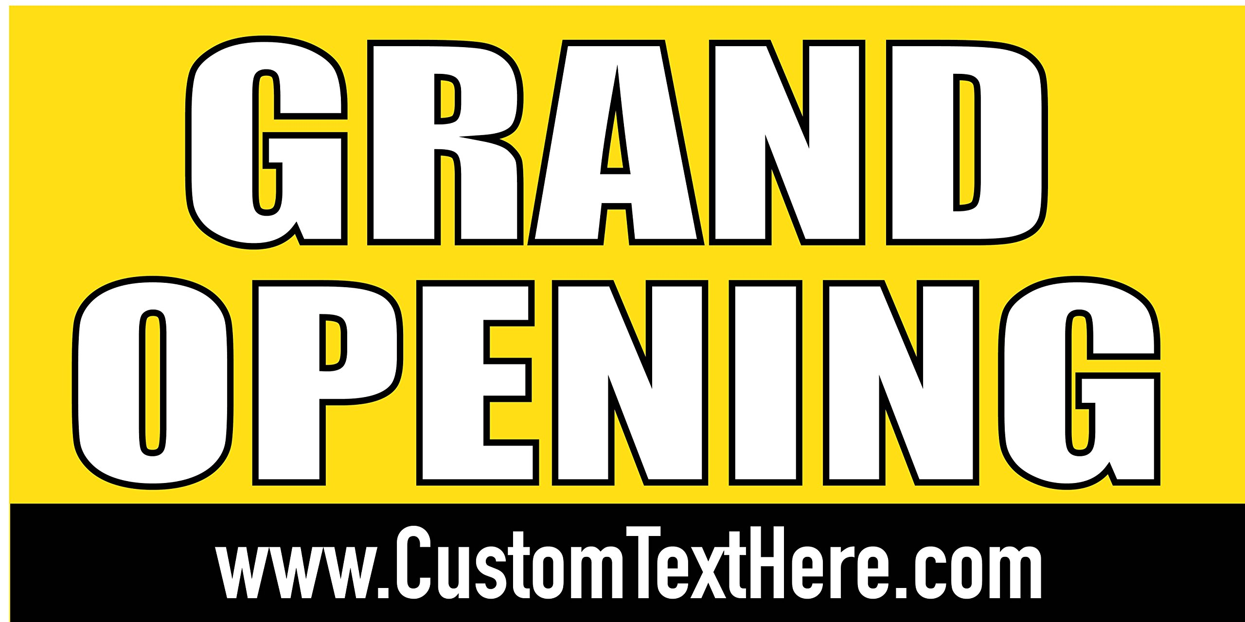 Custom Printed Grand Opening Banner - Yellow (10' x 5') by Reliable Banner Sign Supply & Printing