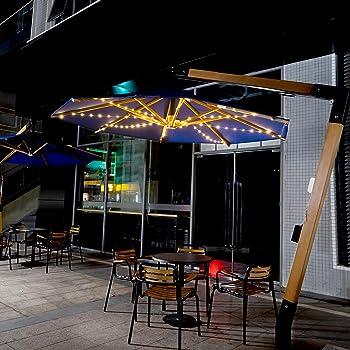 Etercycle Outdoor Solar Patio Umbrella String Lights