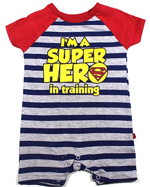 d2591bd3add5 Image Unavailable. Image not available for. Color  KWC Baby Boys Superman Romper  Size 3-6 Months