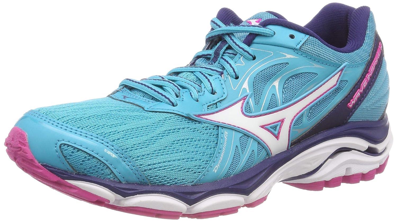 Mizuno Wave Inspire 14, Zapatillas de Running para Mujer 42 EU|Azul (Peacockblue/White/Fuchsiapurple 07)