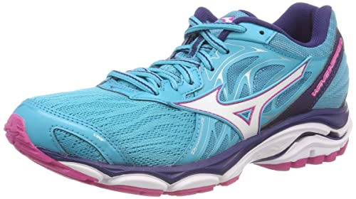 02b897184ff0 Mizuno Women's Wave Inspire 14 (w) Running Shoes, Blue (Peacockblue/White